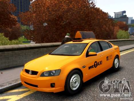 Holden NYC Taxi para GTA 4 vista superior