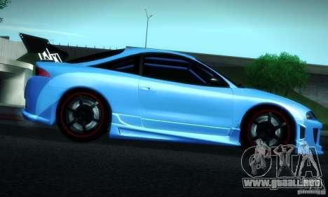 Mitsubishi Eclipse GSX 1999 para vista lateral GTA San Andreas