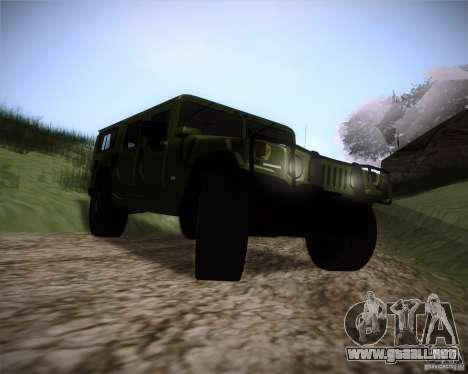 Hummer H1 Alpha para GTA San Andreas vista hacia atrás