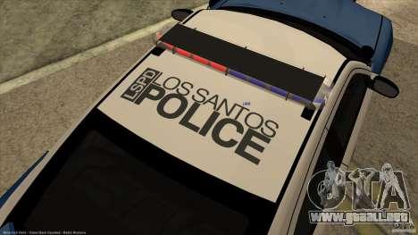 Dodge Charger Los-Santos Police para GTA San Andreas vista hacia atrás