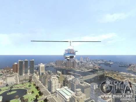 Bell 206 B - NYPD para GTA 4 vista lateral