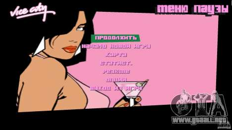 Menu para GTA Vice City segunda pantalla