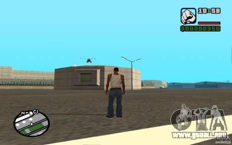 Apoyo aéreo cuando ataca. para GTA San Andreas sexta pantalla