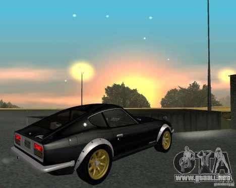 Nissan  Fairlady 240ZG para GTA San Andreas vista hacia atrás