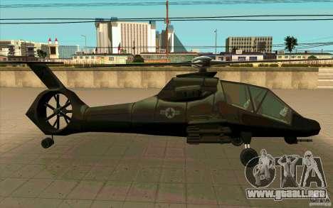 Sikorsky RAH-66 Comanche stealth green para la visión correcta GTA San Andreas