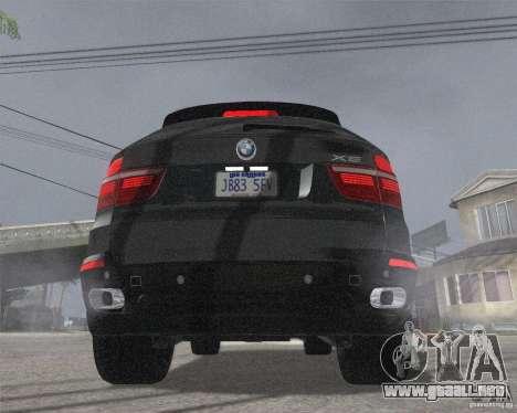 BMW X5 2009 Tune para GTA San Andreas vista posterior izquierda