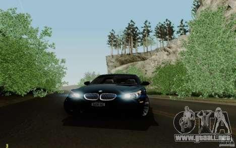 BMW M5 2009 para vista lateral GTA San Andreas
