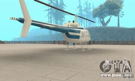 Bell 206B JetRanger II para GTA San Andreas left