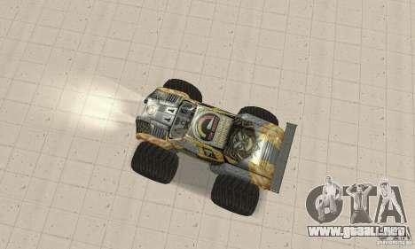 Monster Truck Maximum Destruction para GTA San Andreas vista posterior izquierda