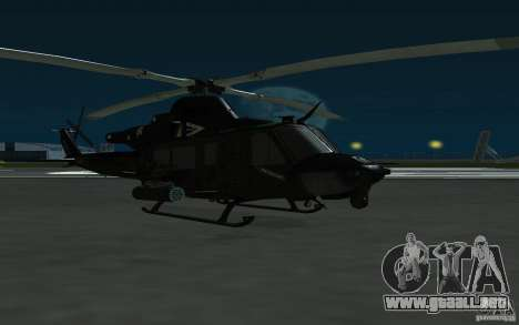 UH-1Y Venom para GTA San Andreas vista posterior izquierda