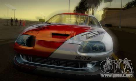 Toyota Supra JZA80 RZ Dragster para vista inferior GTA San Andreas