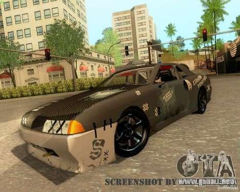 Elegy Drift Korch para vista inferior GTA San Andreas