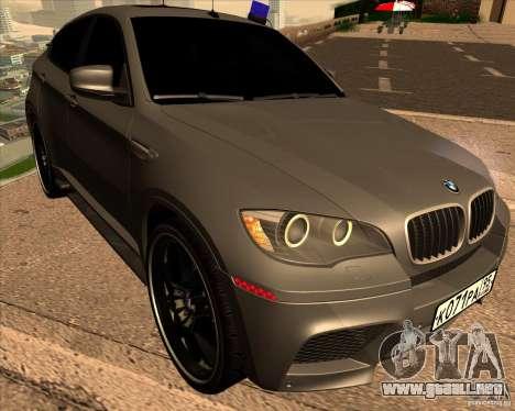 BMW X6 M E71 para GTA San Andreas vista hacia atrás