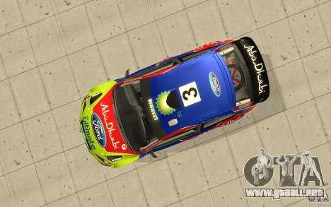 2 trabajos de pintura para el Ford Focus RS WRC  para GTA San Andreas vista posterior izquierda