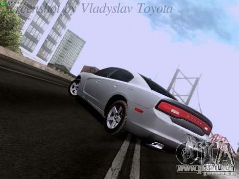 Dodge Charger 2013 para GTA San Andreas vista hacia atrás