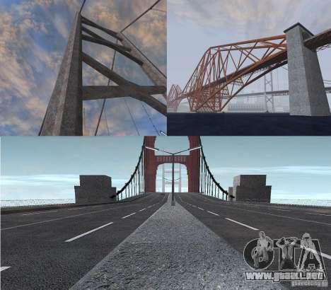 Nuevas texturas de tres puentes en SF para GTA San Andreas