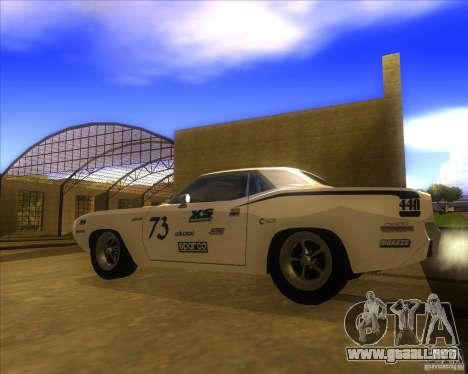 Plymouth Hemi Cuda para GTA San Andreas left