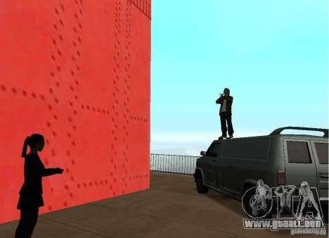 Un terrorista suicida en el puente para GTA San Andreas sucesivamente de pantalla