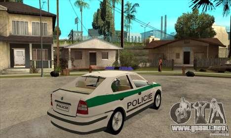 Skoda Octavia Police CZ para la visión correcta GTA San Andreas