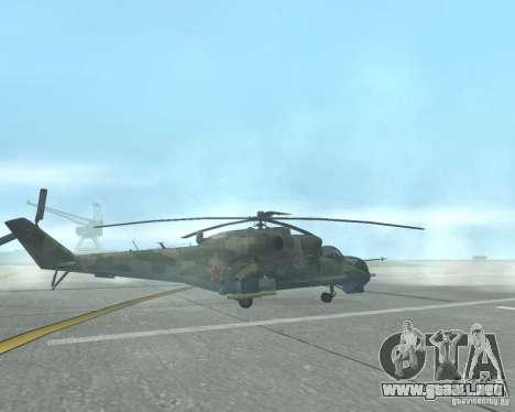 Mi-24P para GTA San Andreas left