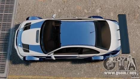 BMW M3 GTR MW 2012 para GTA 4 visión correcta
