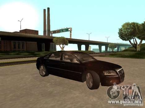 Audi A8 W12 S-Line para GTA San Andreas vista hacia atrás