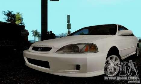 Honda Civic 1999 Si Coupe para vista lateral GTA San Andreas