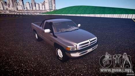 Dodge Ram 2500 1994 para GTA 4 left