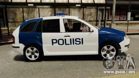 Skoda Fabia Combi Finnish Police ELS para GTA 4 left