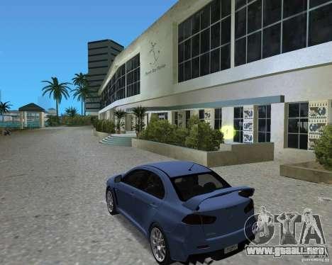 Mitsubishi Lancer Evo X para GTA Vice City visión correcta