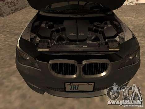 BMW M5 E60 2009 v2 para la vista superior GTA San Andreas