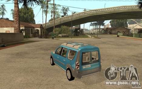 Dacia Logan Steppe Concept para GTA San Andreas vista posterior izquierda