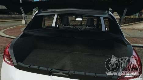 Peugeot 308 GTi 2011 Police v1.1 para GTA 4 vista desde abajo