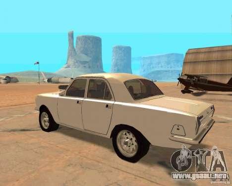 GAZ Volga 2410 caliente Road para GTA San Andreas vista hacia atrás