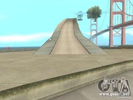 New Drift Track SF para GTA San Andreas sucesivamente de pantalla
