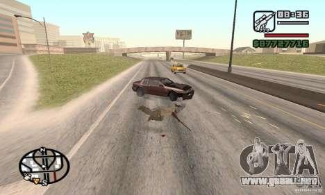 La pérdida de vidas en el accidente para GTA San Andreas tercera pantalla