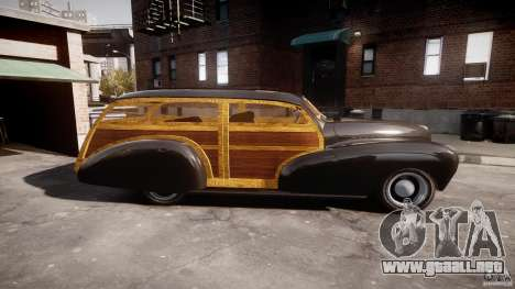 Chevy Fleetmaster Woody Kustom 1948 para GTA 4 left