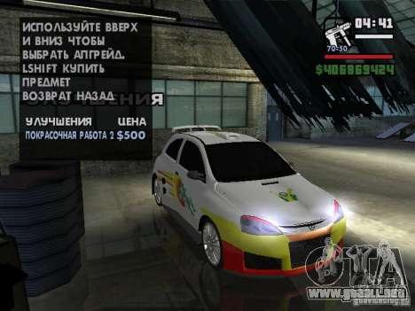 Opel Corsa Sport para visión interna GTA San Andreas