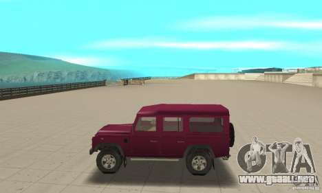 Land Rover Defender 110SW para GTA San Andreas left