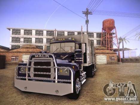 Mack RS700 1970 Trashmaster para GTA San Andreas left