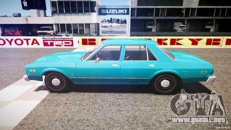 Dodge Aspen v1.1 1979 yellow rear turn signals para GTA 4 left
