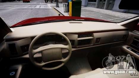 Buick Roadmaster Sedan 1996 v 2.0 para GTA 4 vista hacia atrás