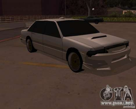 Taxi para GTA San Andreas vista hacia atrás
