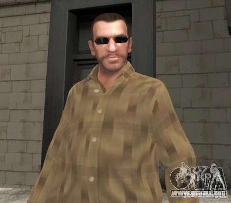 Nuevas gafas de Niko-negro para GTA 4 segundos de pantalla