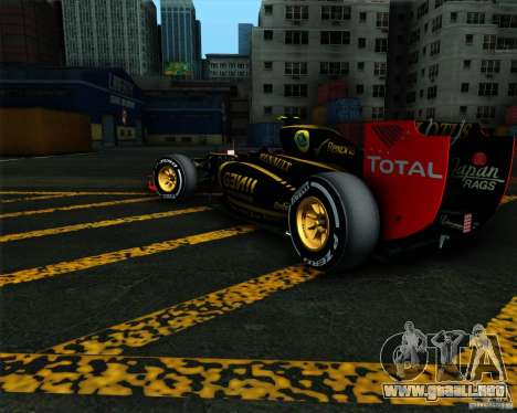 Lotus E20 F1 2012 para GTA San Andreas left