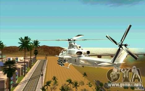 AH-1Z Viper para GTA San Andreas vista posterior izquierda