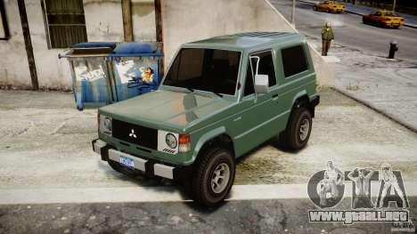 Mitsubishi Pajero I [Final] para GTA 4 visión correcta
