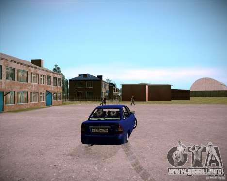 Lada Priora Chelsea para GTA San Andreas vista posterior izquierda
