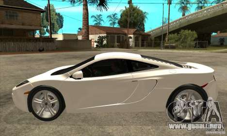 McLaren MP4 12c para GTA San Andreas left