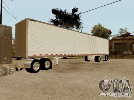 Trailer, Peterbilt 379 personalizado para visión interna GTA San Andreas